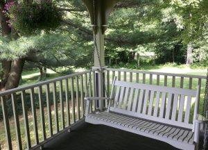 Wooden Deck Porch Swing Columbus